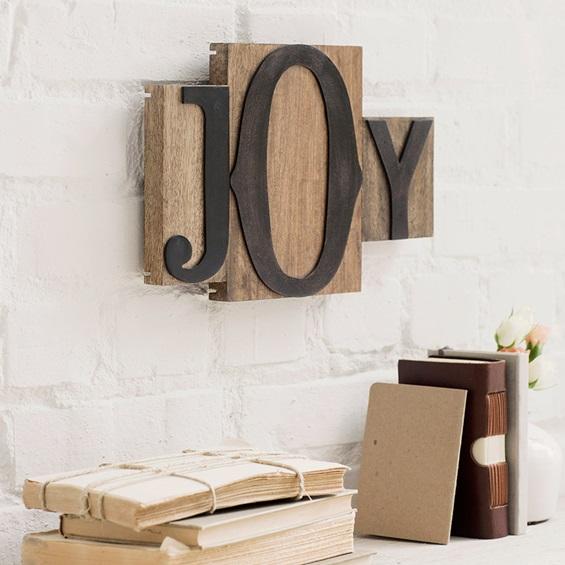 Words Matter Letterpress Block-JOY